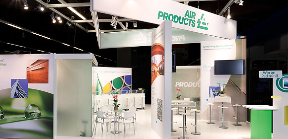 Air Products - Messebau - European Coatings Show 2013